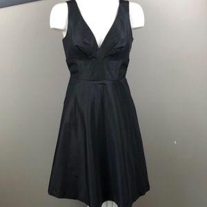 Nordstrom Donna Deep V Cocktail Dress Black 4